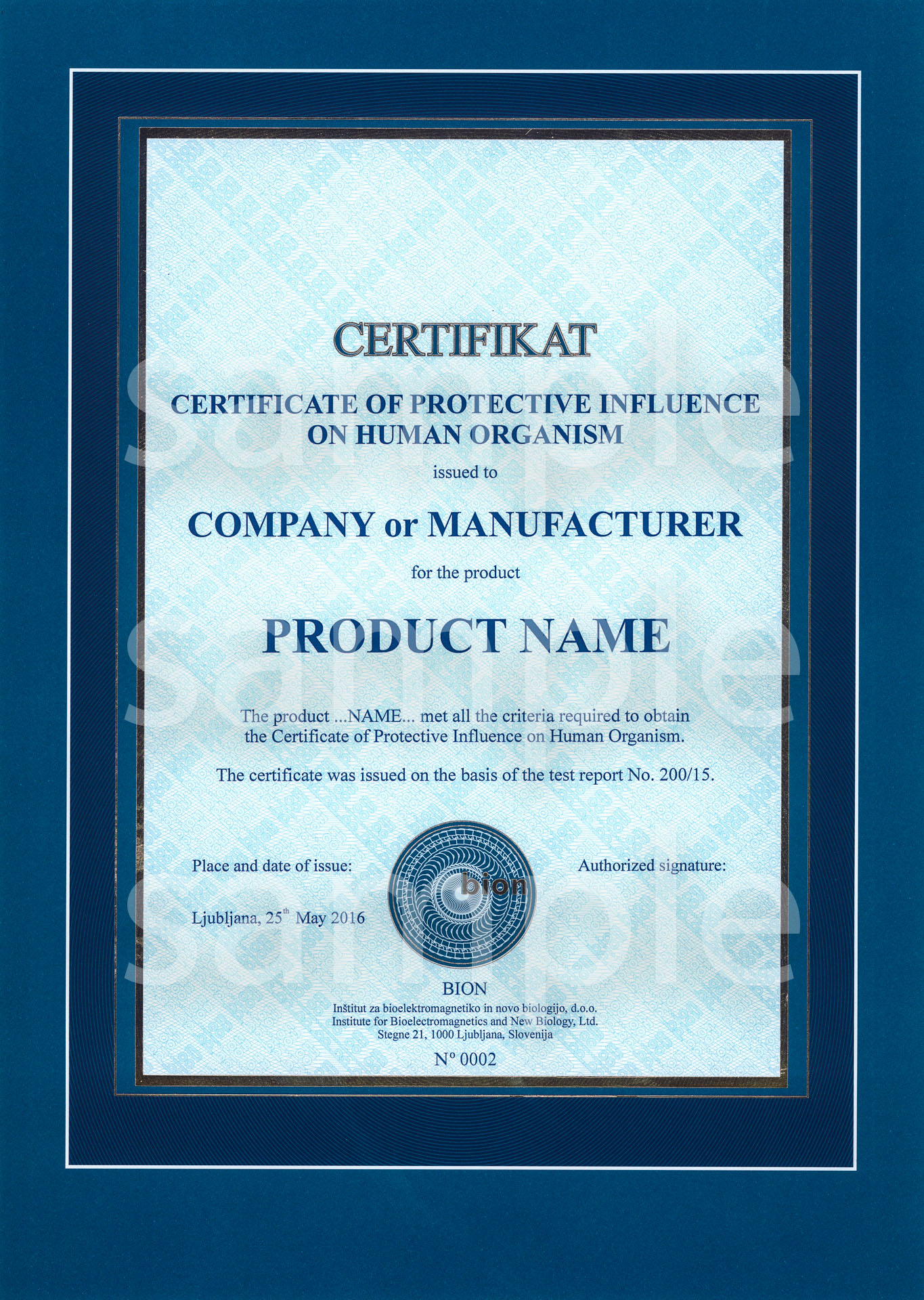 bion_institute-certifikat_of_protective_influence